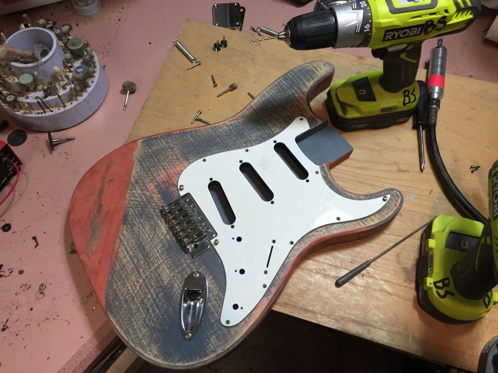 guitar hardware dry fit