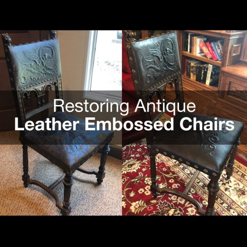 CarveWright Embossed Leather Chair Restoration