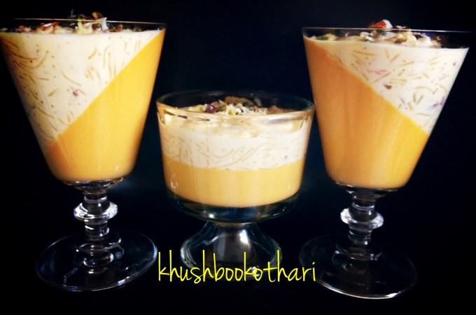 Mango Panna Cotta with Sevai Kheer