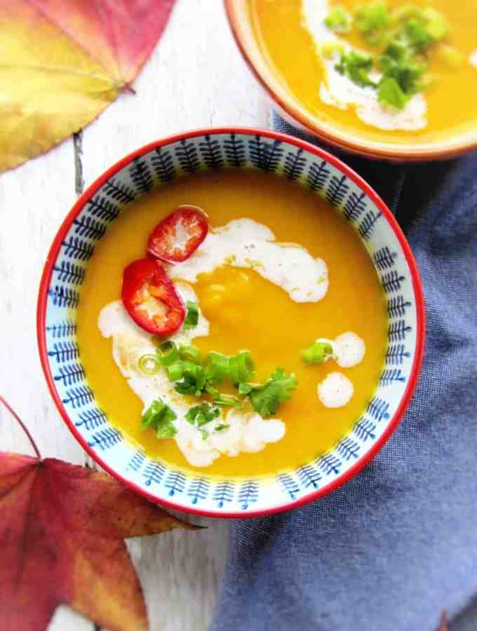 Thai spiced butternut squash soup