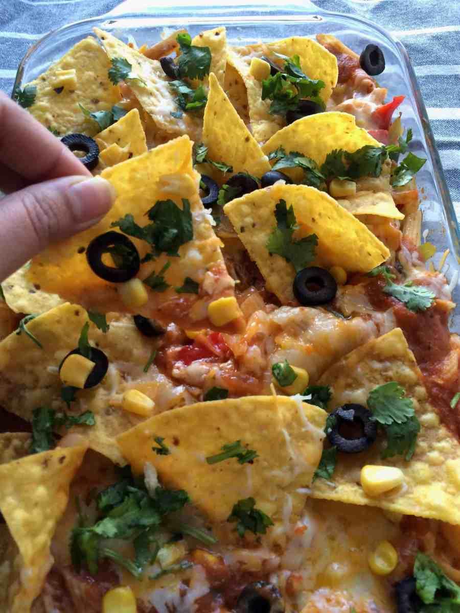 Tex -Mex loaded pasta bake