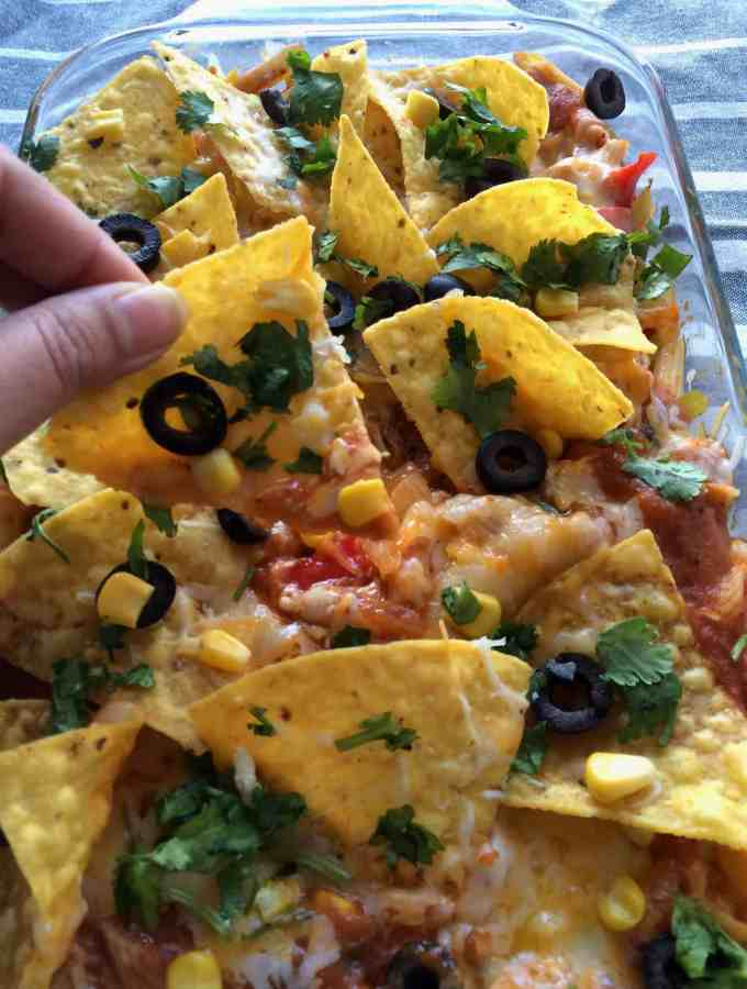 Tex -Mex loaded pasta bake