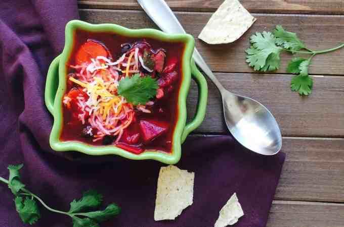 Vegan beetroot Chili  – one pot meal