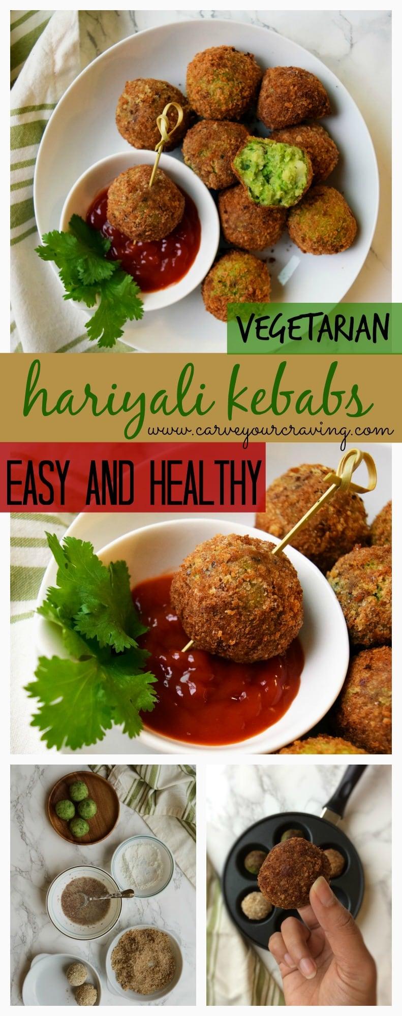 healthy veg hariyali kebabs