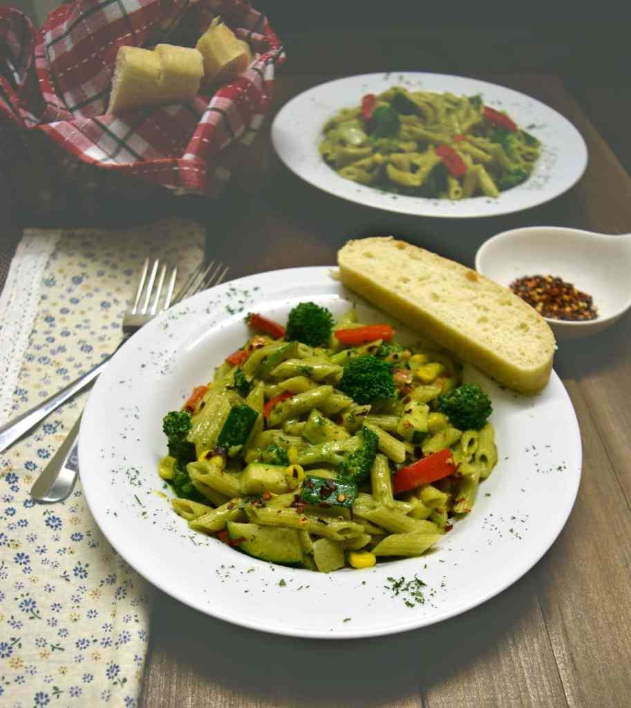 spinach cream pasta
