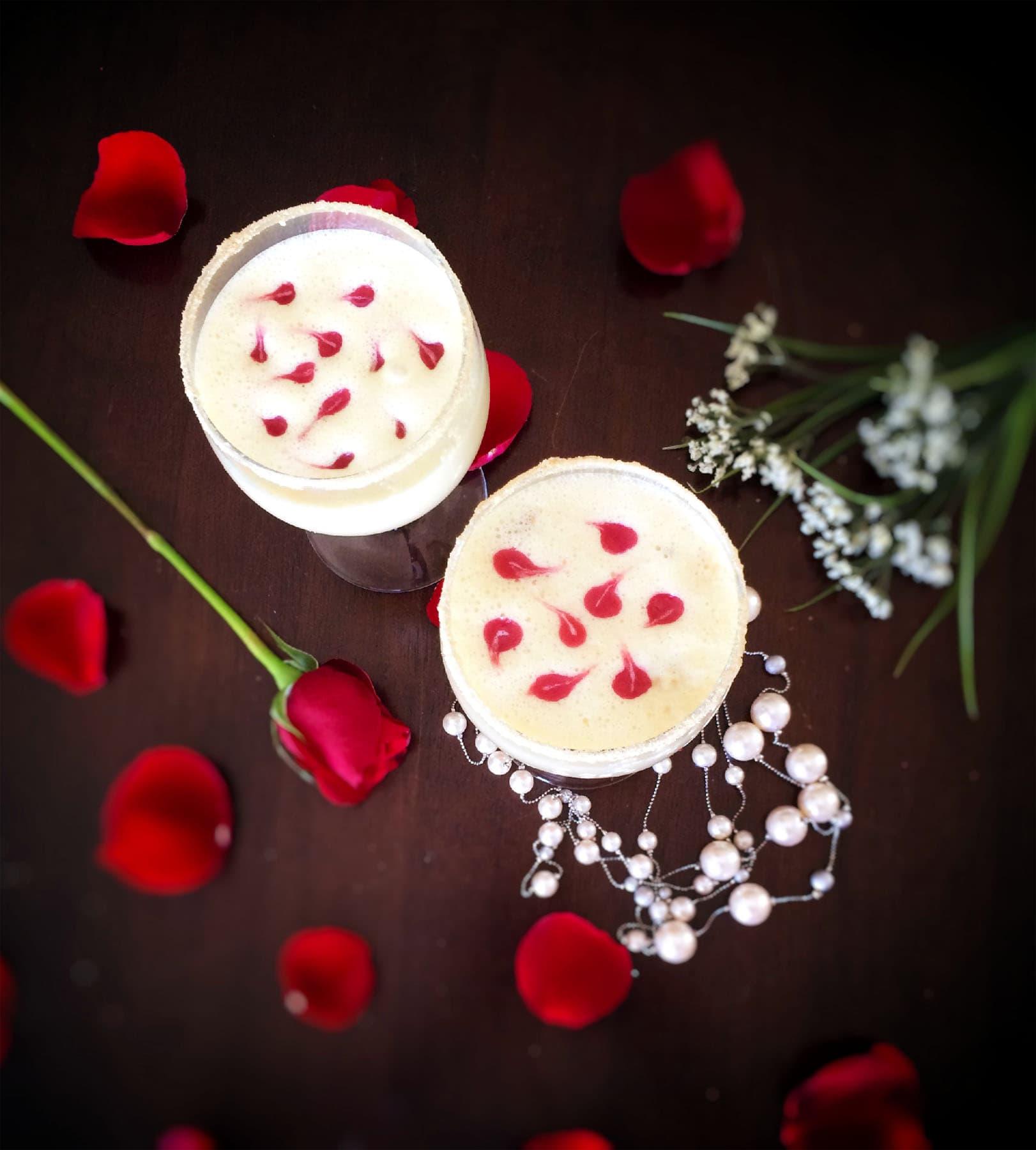 Cheesecake Thandai Mocktail With Berry Swirl