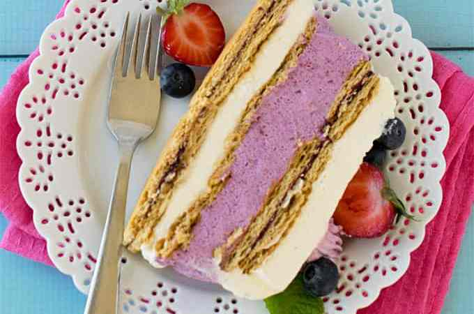No bake mixed berries icebox cheesecake – eggless