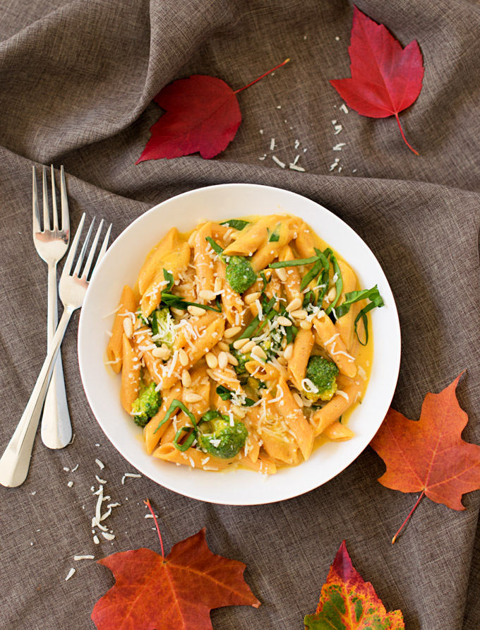 veggie-booster-pasta-in-creamy-butternut-squash-sauce-4