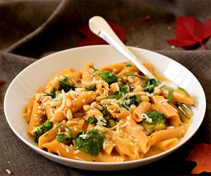 veggie-booster-pasta-in-creamy-butternut-squash-sauce-8