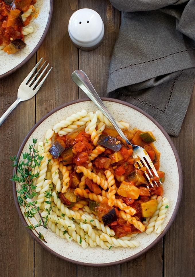 ratatouille-sauce-pasta