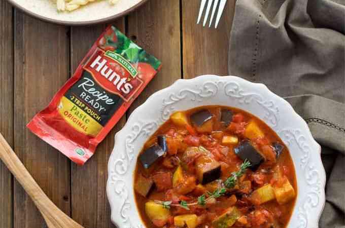 Vegan Skillet Ratatouille Sauce Pasta under 30 minutes