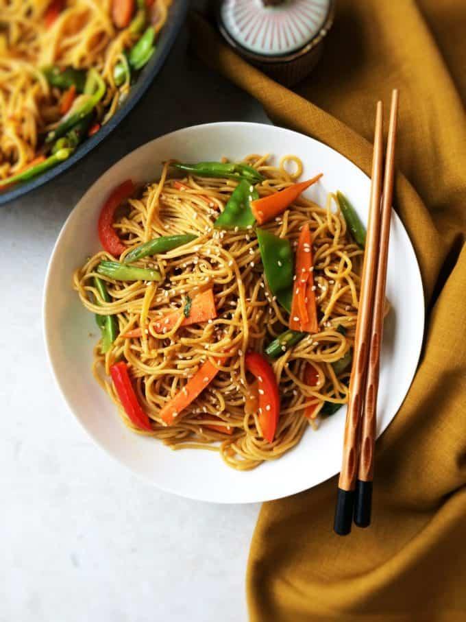 stir fry chilly garlic noodles