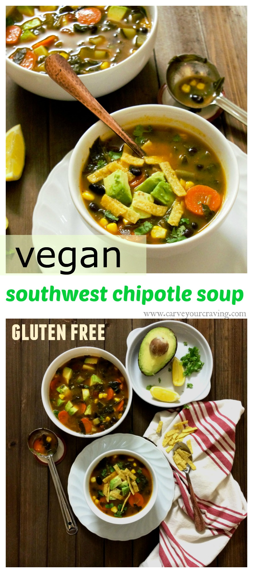 southwest chipotle oup with added greens (vegan and gluten free)s