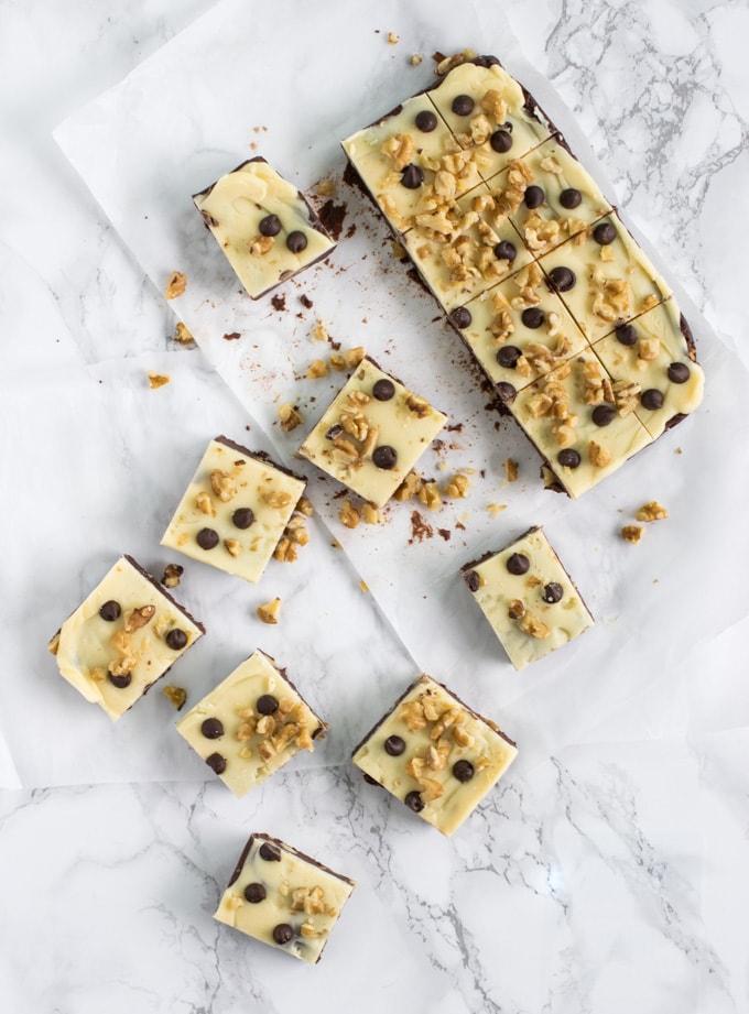 10 minute Double chocolate walnut fudge