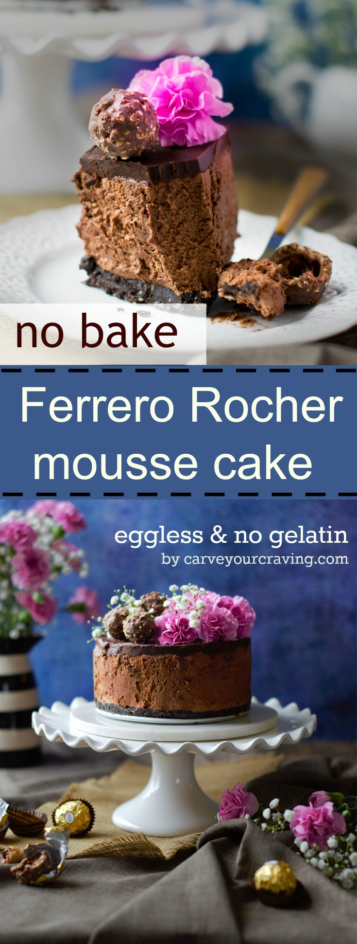 Ferrero Rocher Eggless Cake Recipe