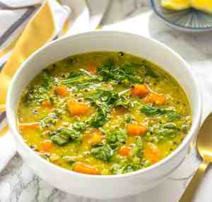 Instant Pot detox soup | Vegetable Lentil Quinoa soup diet