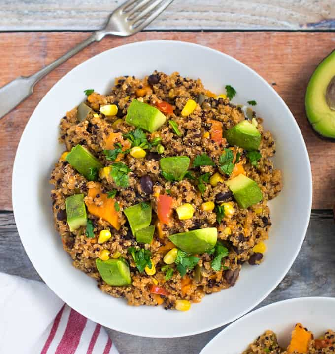 Carve your craving vegetarian and vegan easy recipes on a budget mexican quinoa black bean enchilada casserole instant pot stovetop method forumfinder Images