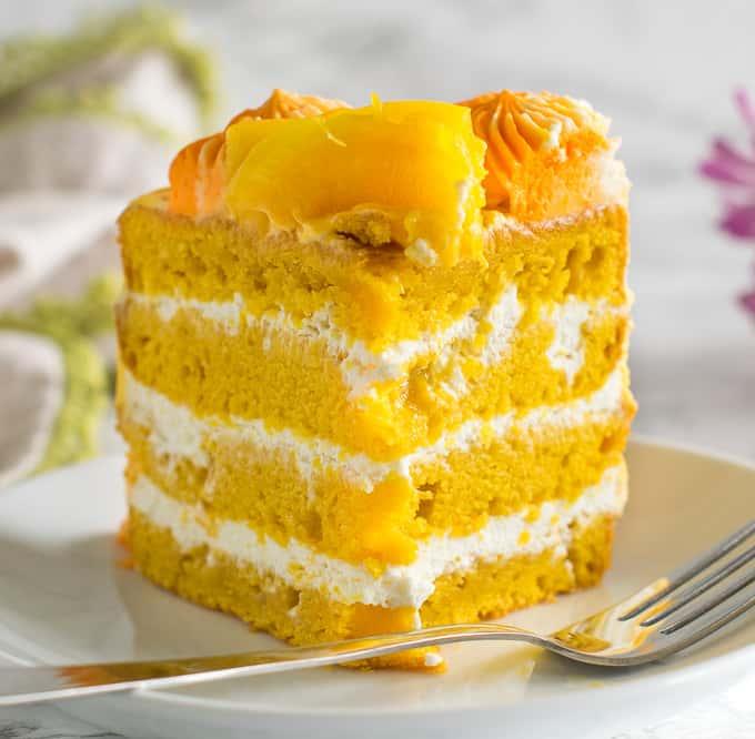 eggless mango cake with icing recipe
