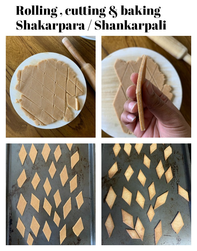 Process of cutting and baking shankarpali