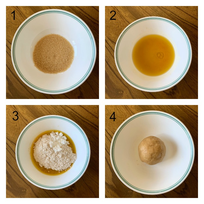 Steps in making shankarpali dough