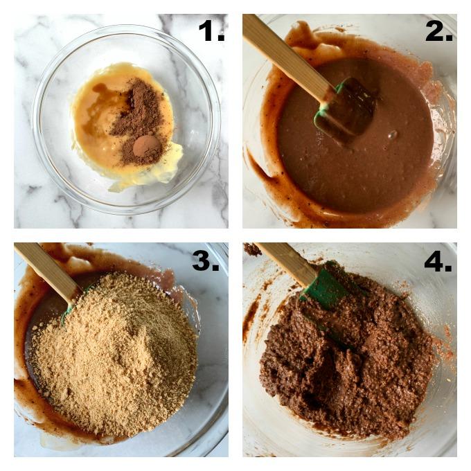 Making the brownie mixture