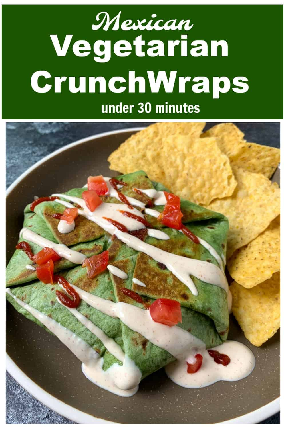 Taco bell style Vegetarian Crunchwrap Supreme without meat