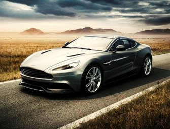 2014 Aston Martin Vanquish Hits the Road
