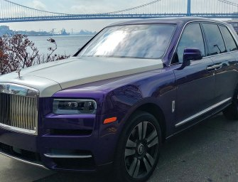 Purple Silk Rolls Royce Cullinan SUV… For When The World Goes Crazy!