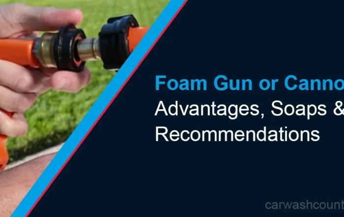 foam gun vs cannon