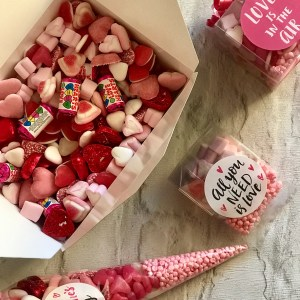 """All You Need is Love"" Themed Sweet Cube"