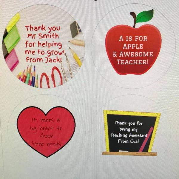 Teacher Gift Stickers
