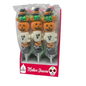 Halloween Themed Mallow Skewers