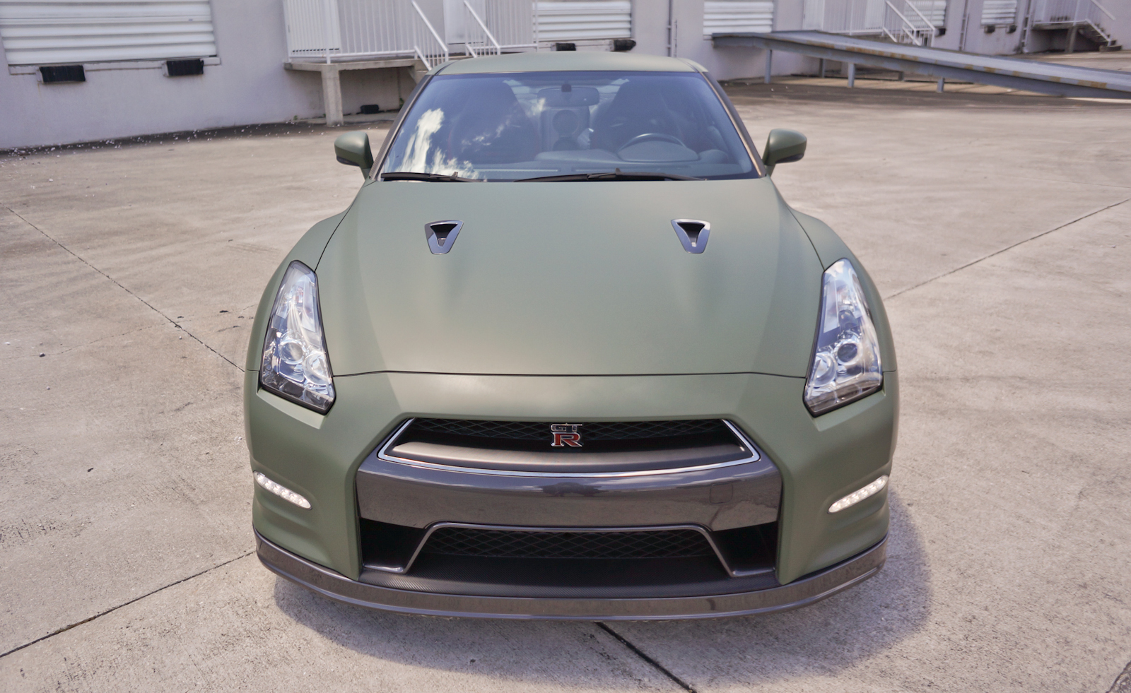 Custom Nissan Gtr Matte Car Wrap Miami Florida Car Wrap