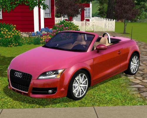 Pink Audi TT coupe