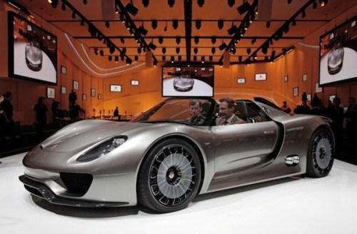 2011 Detroit Auto Show News- Porsche 918 Spyder Plug-in