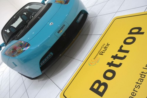 Green Tesla Roadster Sport by Brabus