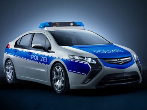 Opel Ampera Green Police Car