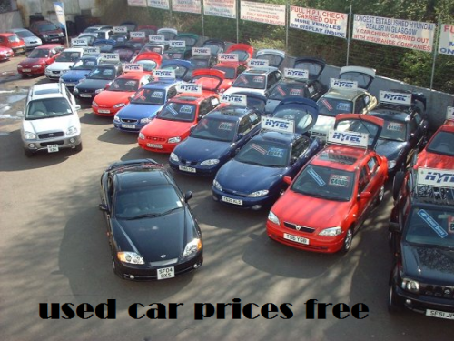 used car prices free