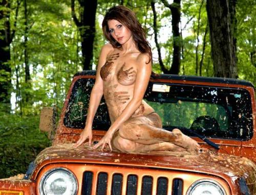 Sexy girl on Jeep