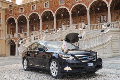 Prince Albert II of Monaco Lexus LS600h