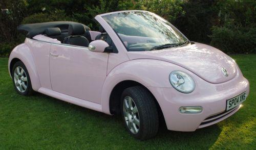 pink volkswagen bug
