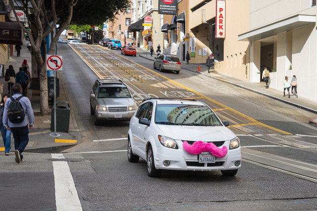 car-mustache