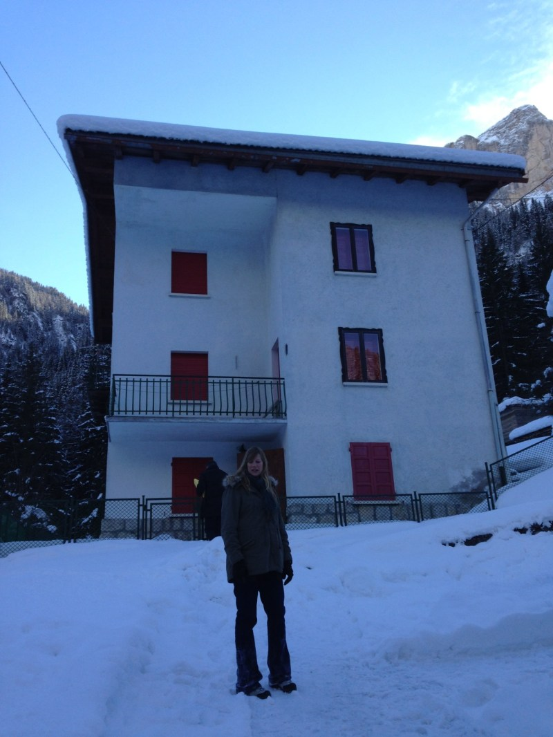 February 2013 - Col di Rocca. Soph standing in front of Via Col di Rocca,36 soon to become Casa Alfredino
