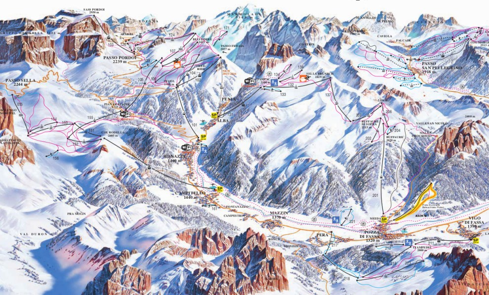 fassa ski map