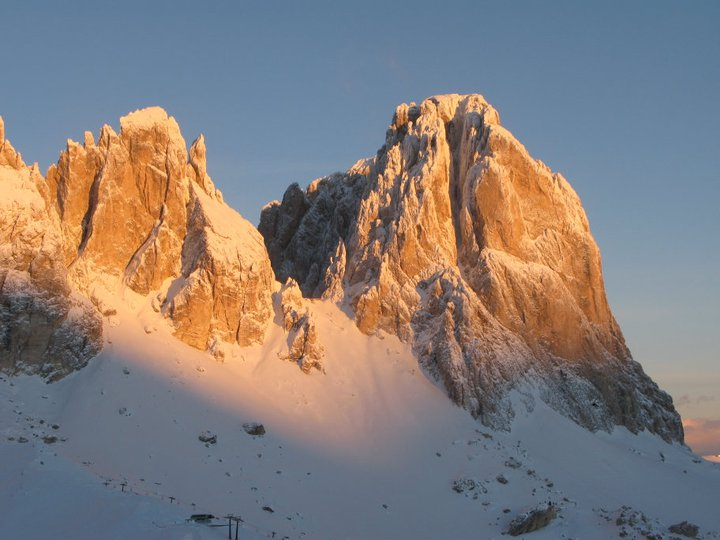 Sassolungo by early morning light.