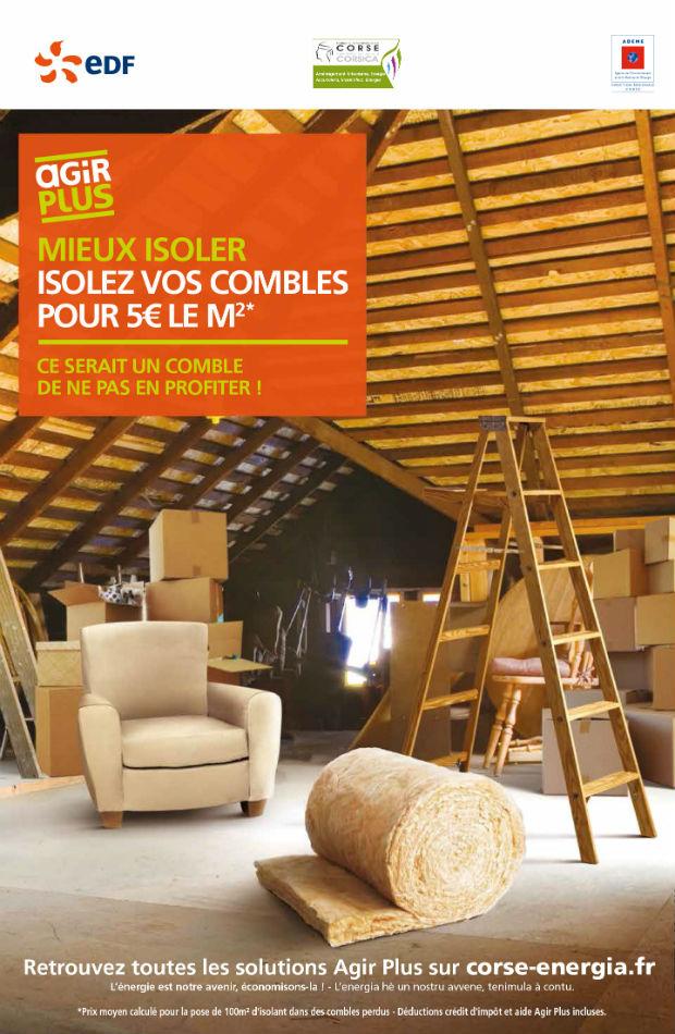 offre edf ctc pour l 39 isolation de vos combles 5 euros m2 casa bio. Black Bedroom Furniture Sets. Home Design Ideas