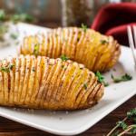 Kartoffeln vom Grill, gefächert