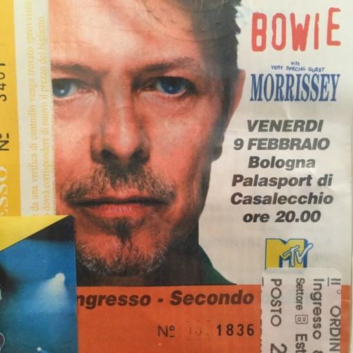 David Bowie 9 febbraio 1996 Casalecchio di Reno