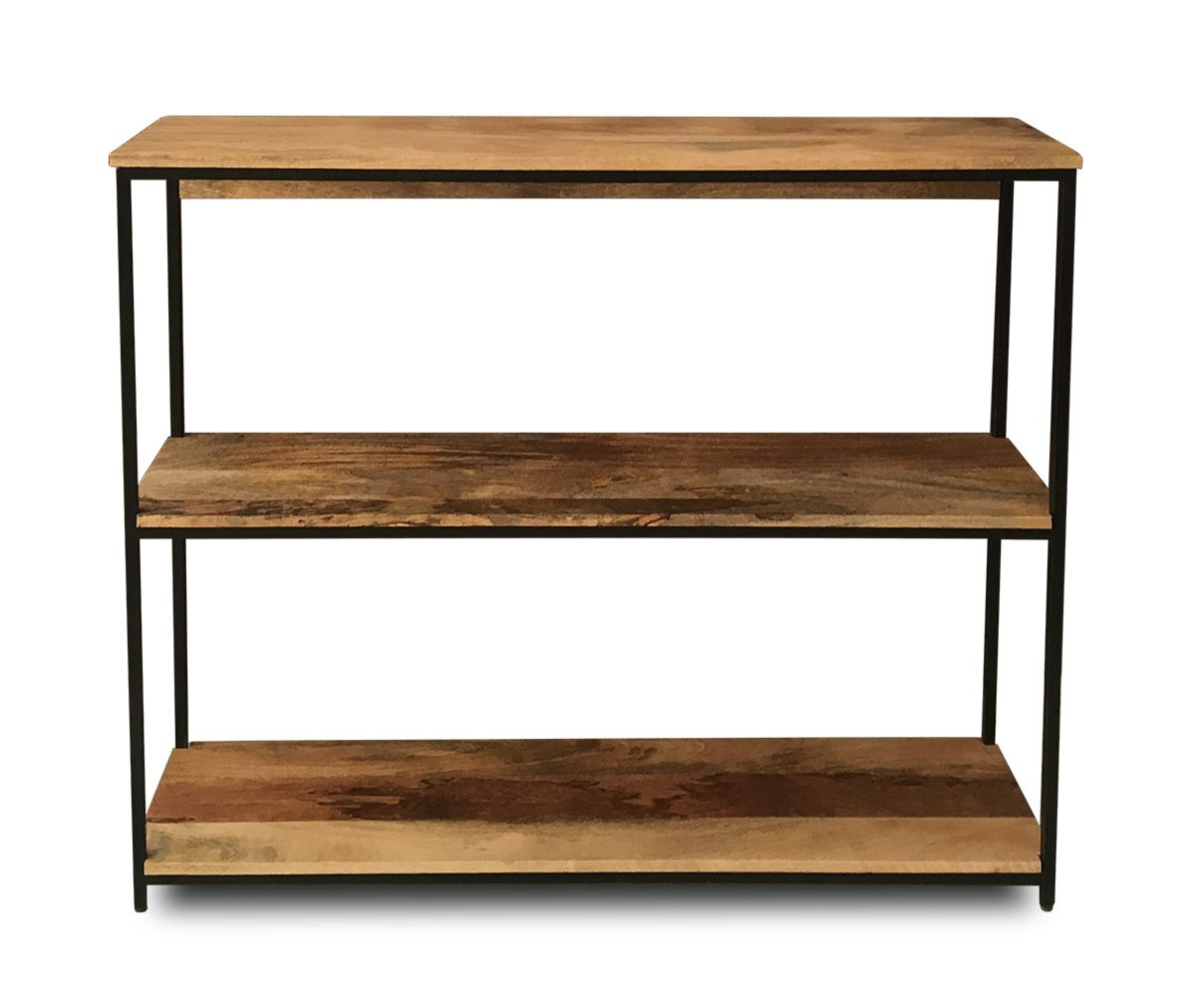 Imari Industrial Mango Low Bookshelf