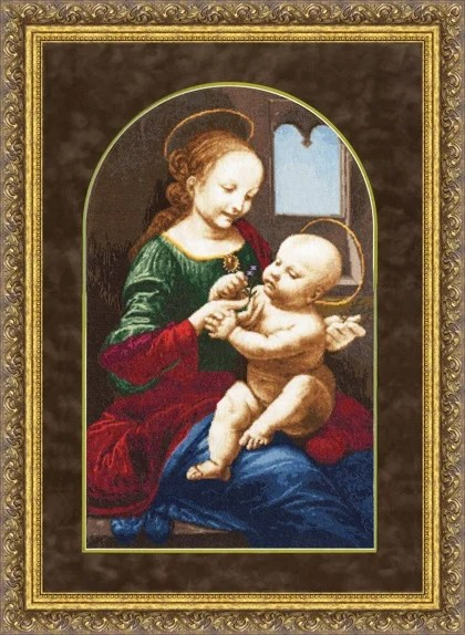 Benois Madonna Leonardo Da Vinci De Zolotoe Runo Golden
